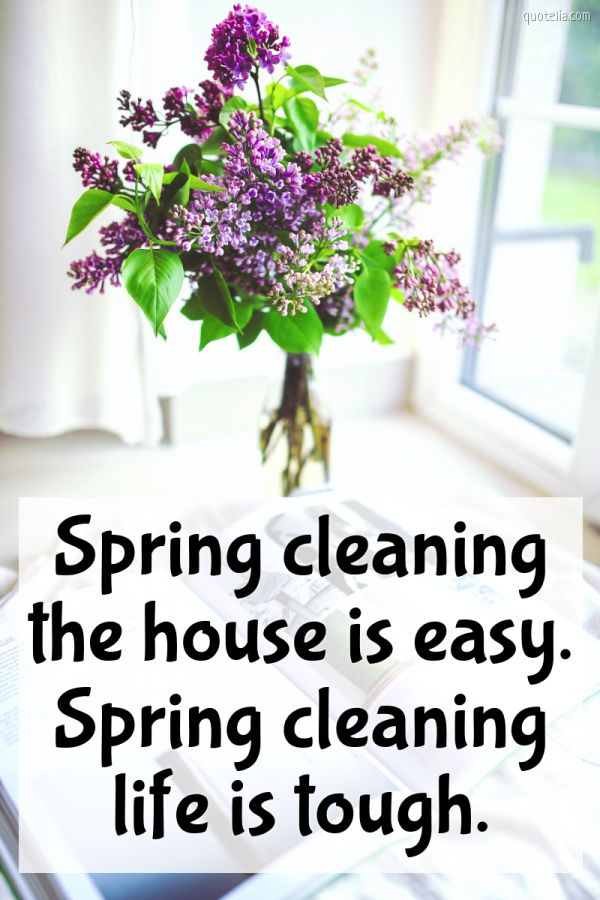 Spring cleaning the house is easy. Spring cleaning life is tough.