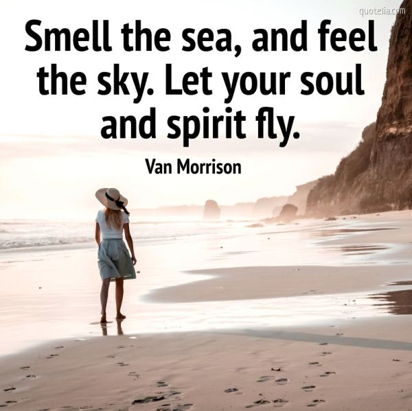 Smell the sea, and feel the sky. Let your soul and spirit fly.