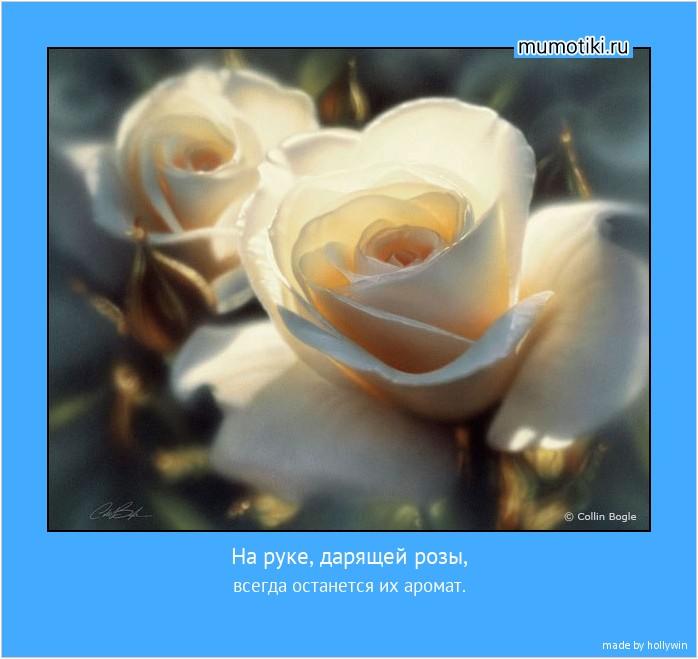 На руке, дарящей розы, всегда останется их аромат. #мотиватор