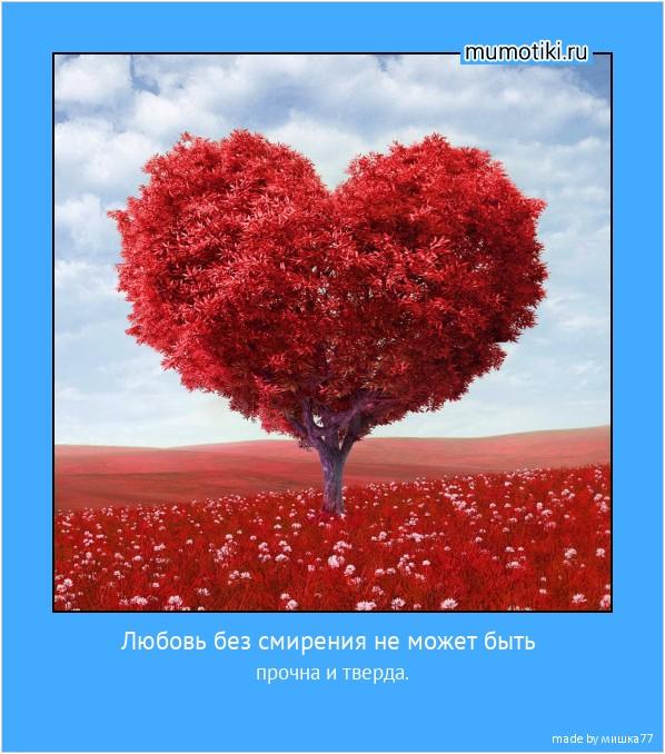 Любовь без смирения не может быть прочна и тверда. #мотиватор