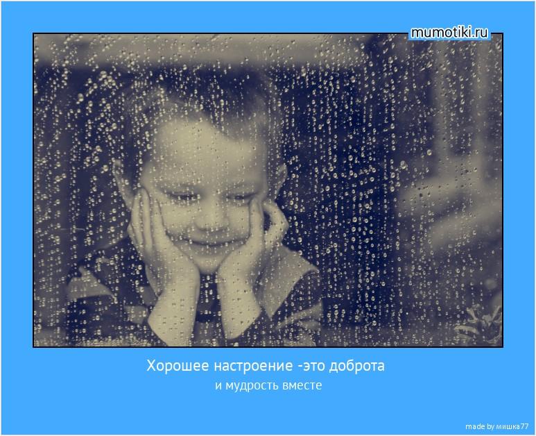 Хорошее настроение -это доброта и мудрость вместе #мотиватор
