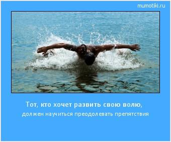 Тот, кто хочет развить свою волю, должен научиться преодолевать препятствия #мотиватор
