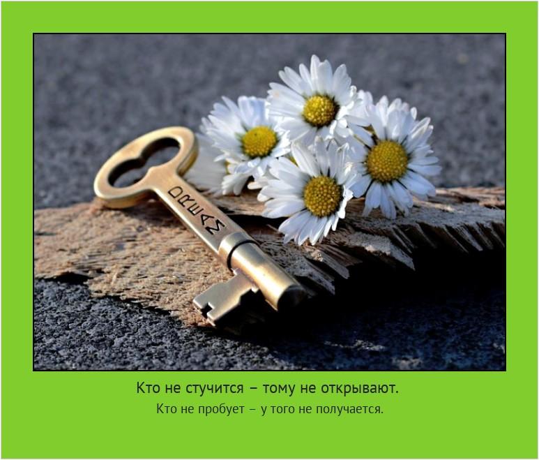 Кто не стучится – тому не открывают. Кто не пробует – у того не получается. #мотиватор