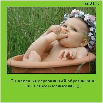 – Ты ведёшь неправильный образ жизни! – Ой... Не надо мне завидовать...))) #мотиватор