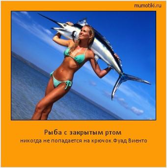 Рыба с закрытым ртом никогда не попадается на крючок.Фуад Виенто #мотиватор