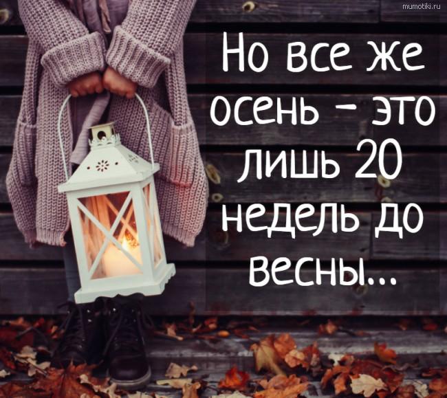 Но все же осень - это лишь 20 недель до весны…