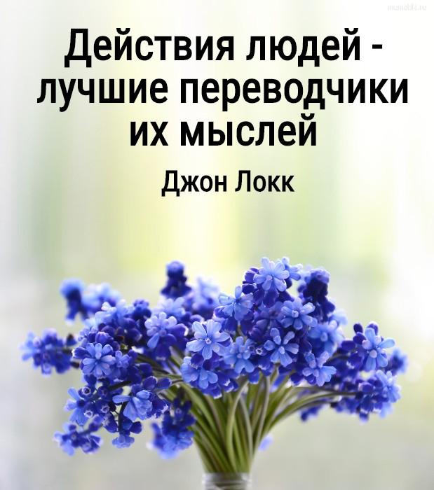 Действия людей - лучшие переводчики их мыслей. Джон Локк #цитата