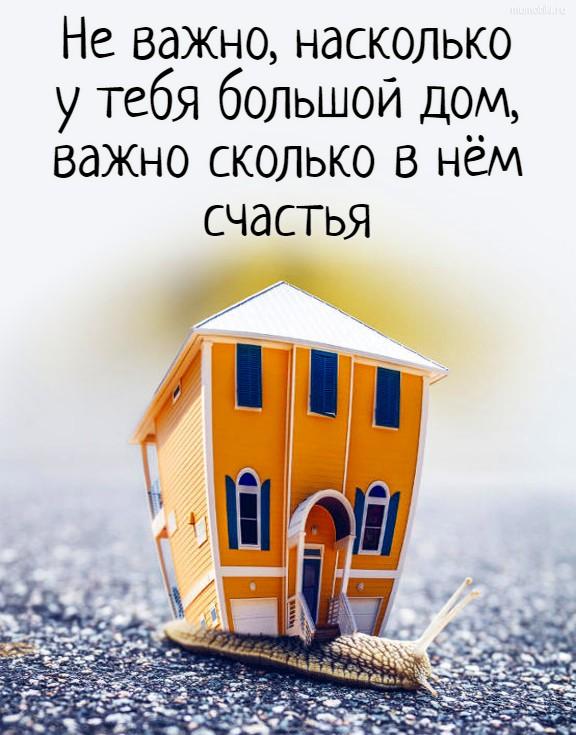 Не важно, насколько у тебя большой дом, важно сколько в нём счастья #цитата
