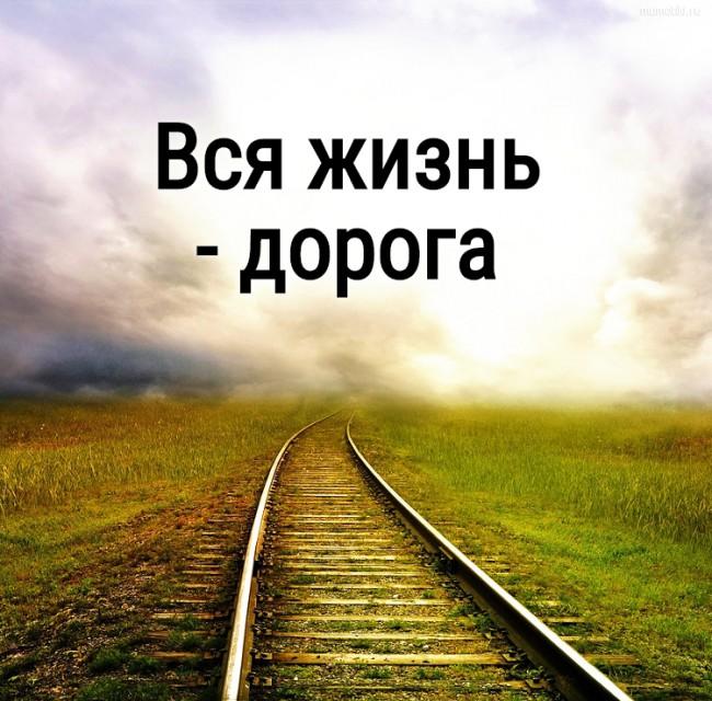 Вся жизнь - дорога #цитата