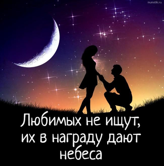 Любимых не ищут, их в награду дают небеса #цитата