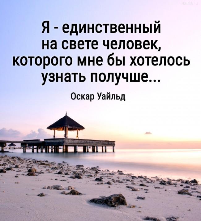 Я - единственный на свете человек, которого мне бы хотелось узнать получше.... Веер леди Уиндермир (Оскар Уайльд) #цитата