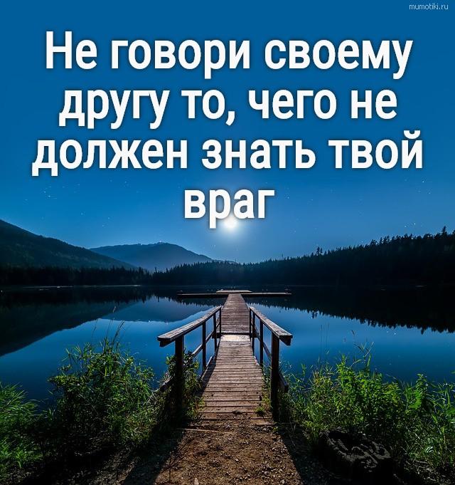 Не говори своему другу то, чего не должен знать твой враг #цитата