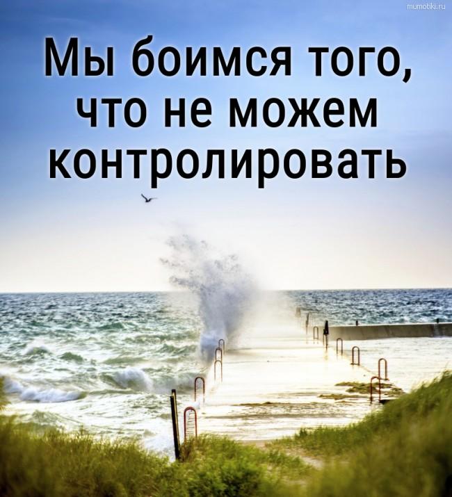 Мы боимся того, что не можем контролировать. #цитата