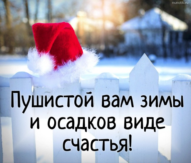 Пушистой вам зимы и осадков виде счастья! #цитата