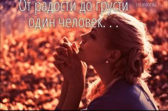 От радости до грусти один человек. . .   #цитаты