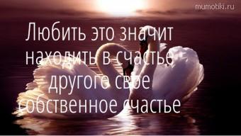 Любить это значит находить в счастье другого свое собственное счастье #цитаты