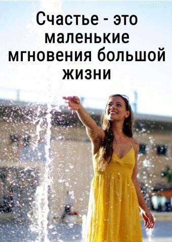 Счастье - это маленькие мгновения большой жизни. #цитаты