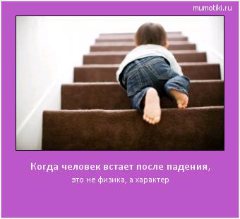Когда человек встает после падения, это не физика, а характер #мотиватор