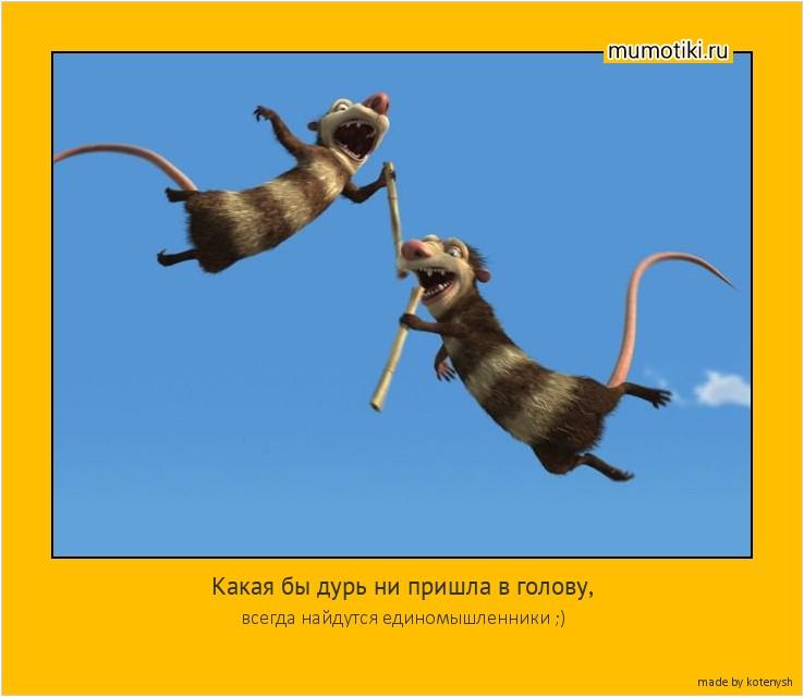 Какая бы дурь ни пришла в голову, всегда найдутся единомышленники ;) #мотиватор
