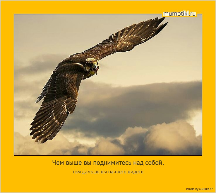 Чем выше вы поднимитесь над собой, тем дальше вы начнете видеть #мотиватор